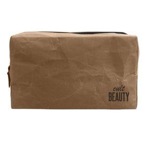 Cult Beauty Kraft Paper Makeup Bag